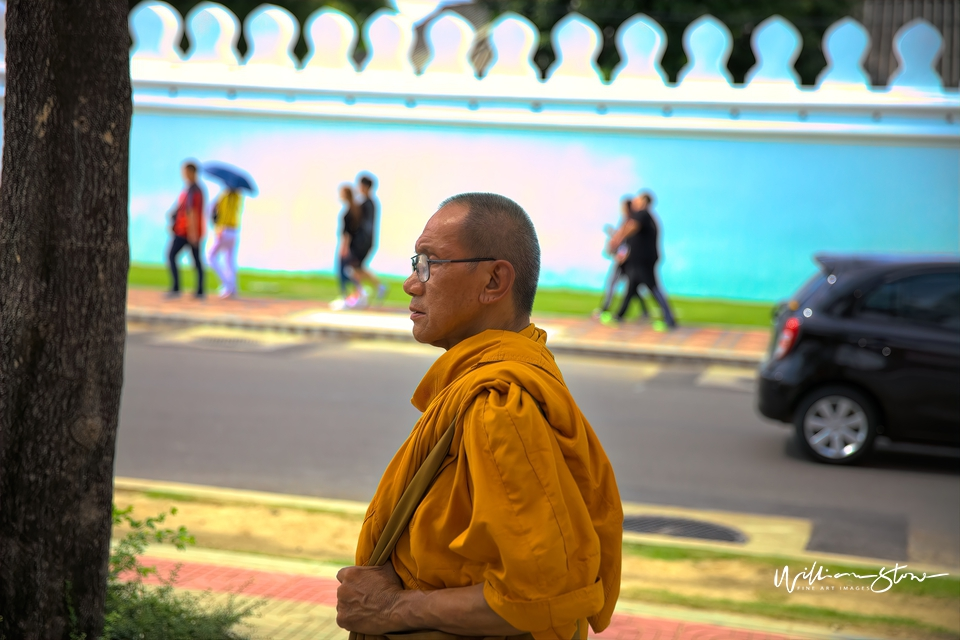 The Walking Monk - Limited Edition, Fine Art
