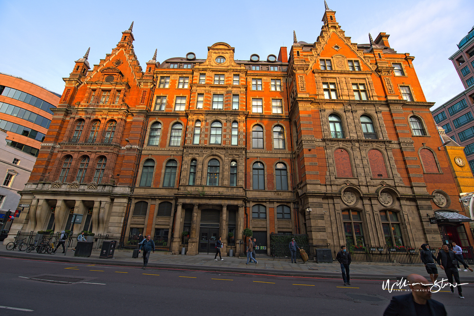 Fine Art Photo, Fine Art Print, Limited Edition Photo Of One of England's Oldest Hotel near Liverpool Street Station