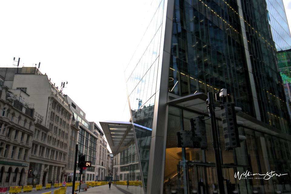 Two Tall Office Buildings, Fine Art, Limited Edition, City CCTV, London, Square Mile, Financial District, The Begining, Under Construction, Trading, Forex Building, Equity, Derivatives