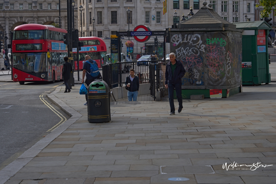 Walking Together, London Red Bus, Closed Shops, London, London, United Kingdom, Stay Healthy